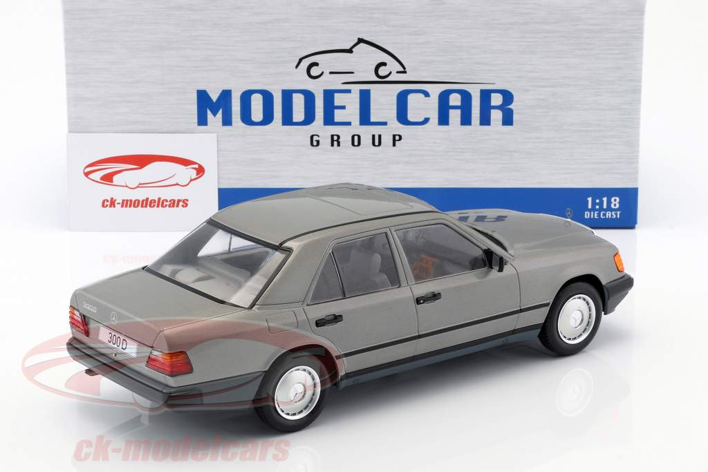 Mercedes-Benz 300 D (W124) year 1984 grey metallic 1:18 Model Car Group