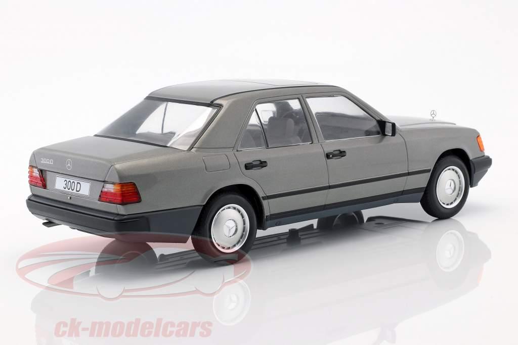 Mercedes-Benz 300 D (W124) año de construcción 1984 gris metálico 1:18 Model Car Group