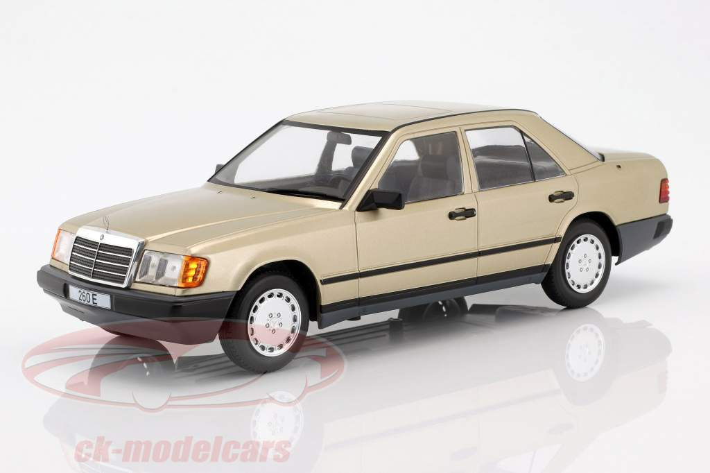 Mercedes-Benz 260 E (W124) Bouwjaar 1984 goud metalen 1:18 Model Car Group