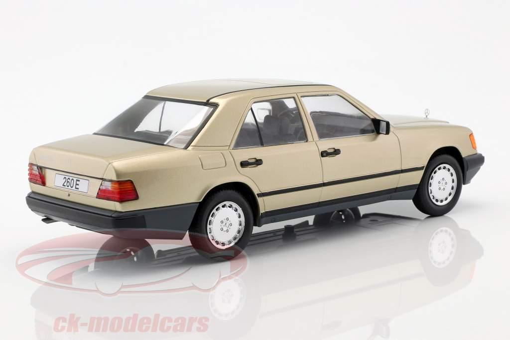 Mercedes-Benz 260 E (W124) anno di costruzione 1984 oro metallico 1:18 Model Car Group