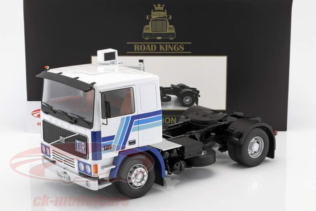 Volvo F12 Traktor Opførselsår 1977 hvid / blå 1:18 Road Kings