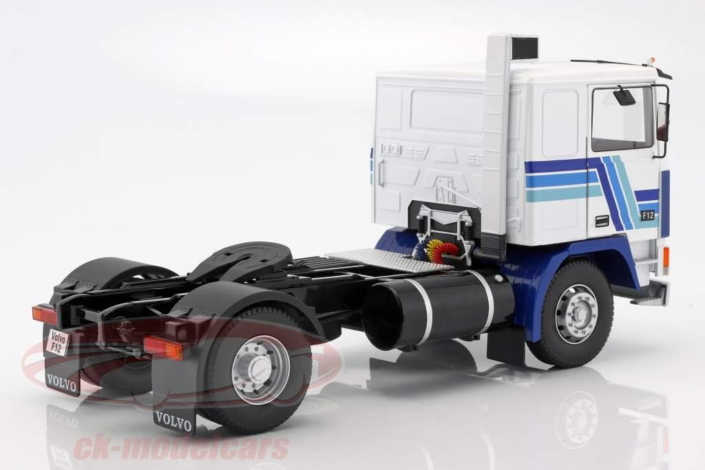 Volvo F12 trattore anno di costruzione 1977 bianco / blu 1:18 Road Kings