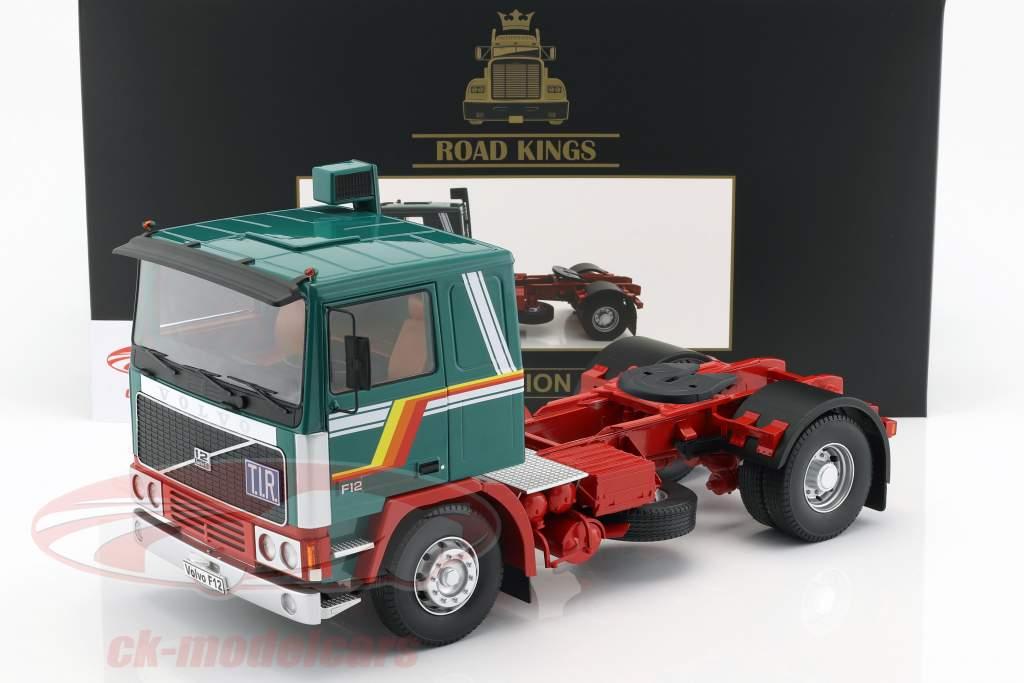 Volvo F12 trattore anno di costruzione 1977 verde / bianco / rosso 1:18 Road Kings