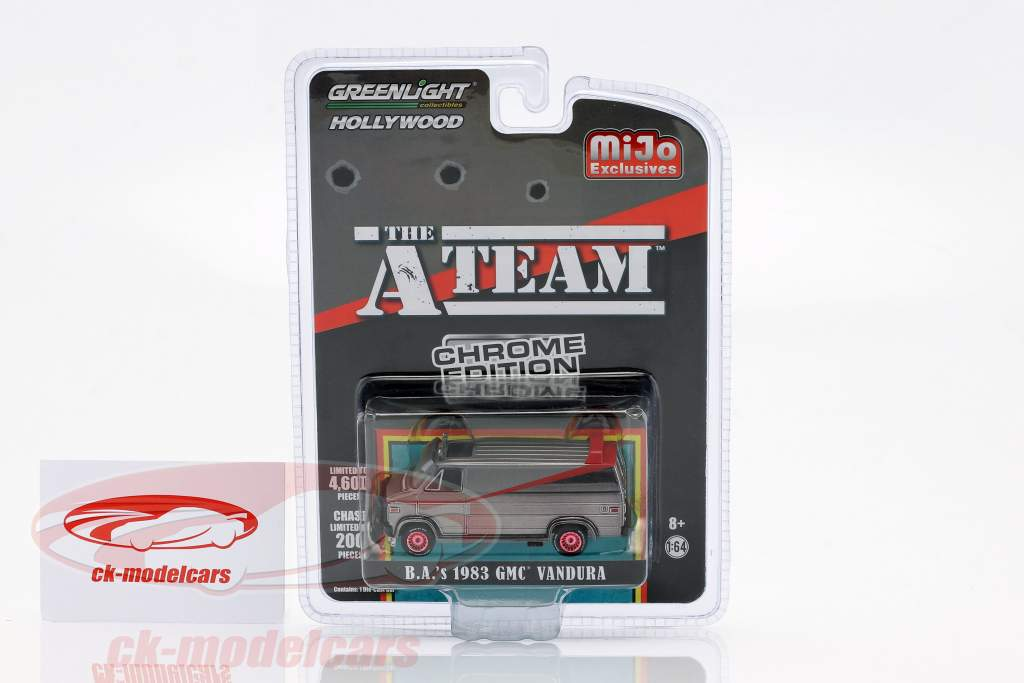 B.A.'s GMC Vandura 1983 Série TV la A-Team (1983-87) chrome bandes 1:64 Greenlight