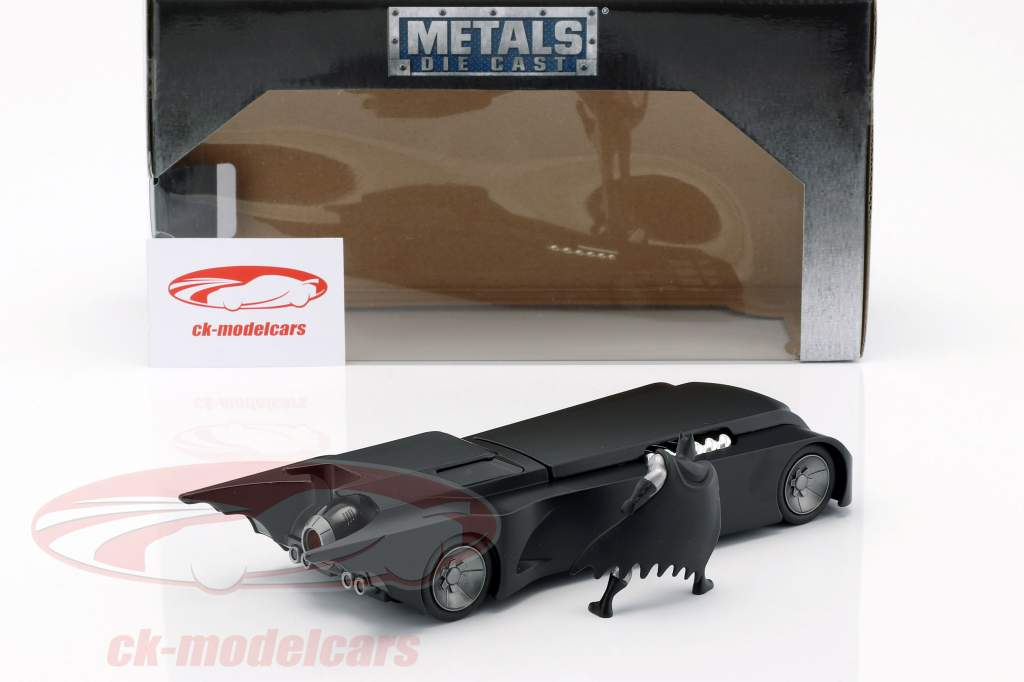 Animated Batmobile with Batman figure matt black 1:24 Jada Toys