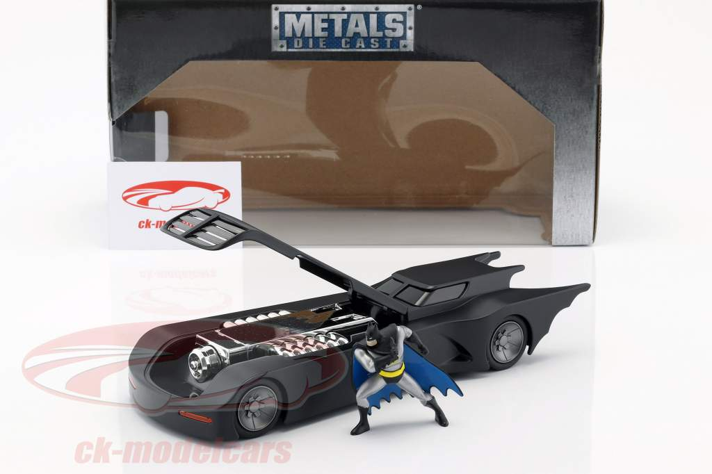 Animated Batmobile con batman cifra nero opaco 1:24 Jada Toys