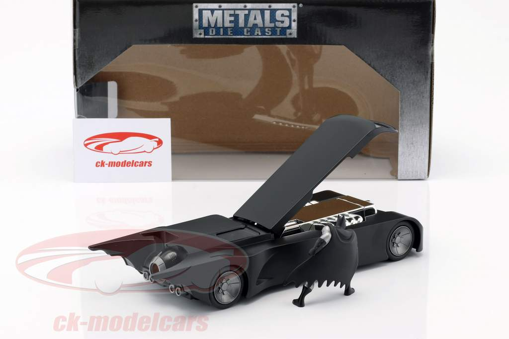 Animated 蝙蝠车 同 蝙蝠侠 人物 亚光黑 1:24 Jada Toys