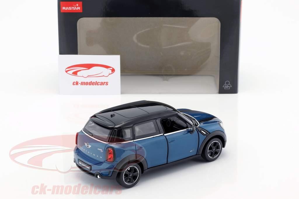 Mini Cooper S Countryman (R60) blå metallisk / sort 1:24 Rastar