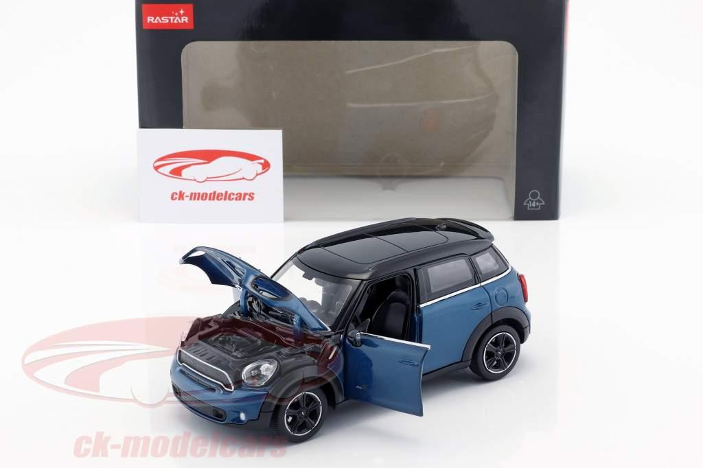 Mini Cooper S Countryman (R60) bleu métallique / noir 1:24 Rastar