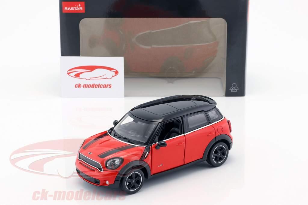 Mini Cooper S Countryman (R60) rood / zwart 1:24 Rastar