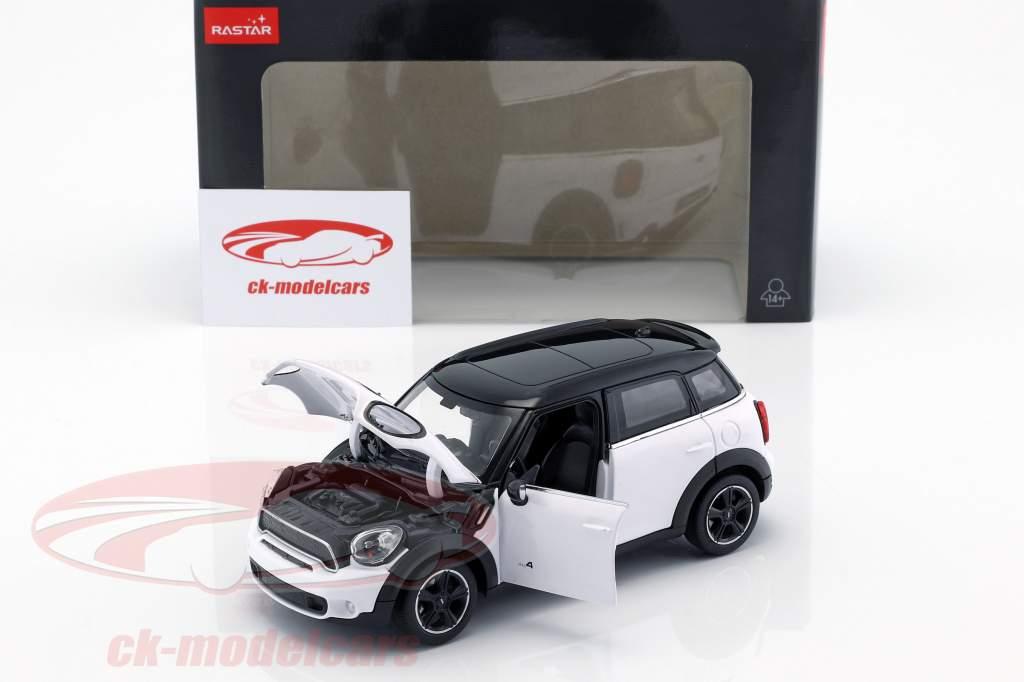 Mini Cooper S Countryman (R60) branco / preto 1:24 Rastar