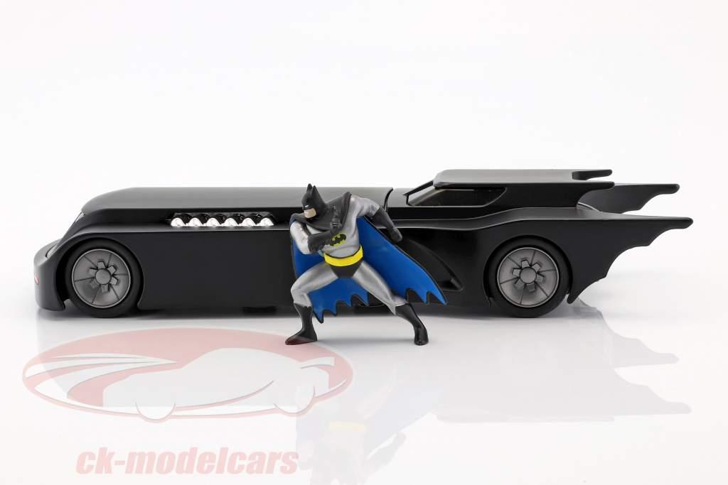 Animated Batmobil mit Batman Figur mattschwarz 1:24 Jada Toys
