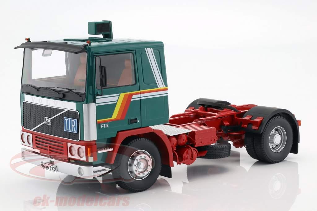 Volvo F12 Traktor Opførselsår 1977 grøn / hvid / rød 1:18 Road Kings