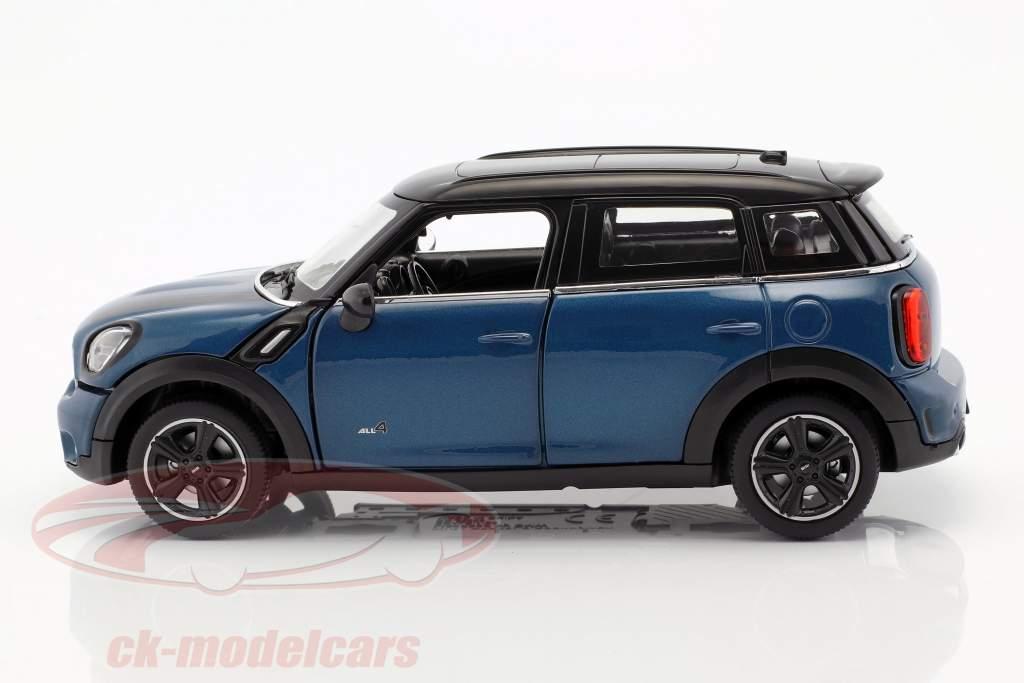 Mini Cooper S Countryman (R60) azul metálico / preto 1:24 Rastar