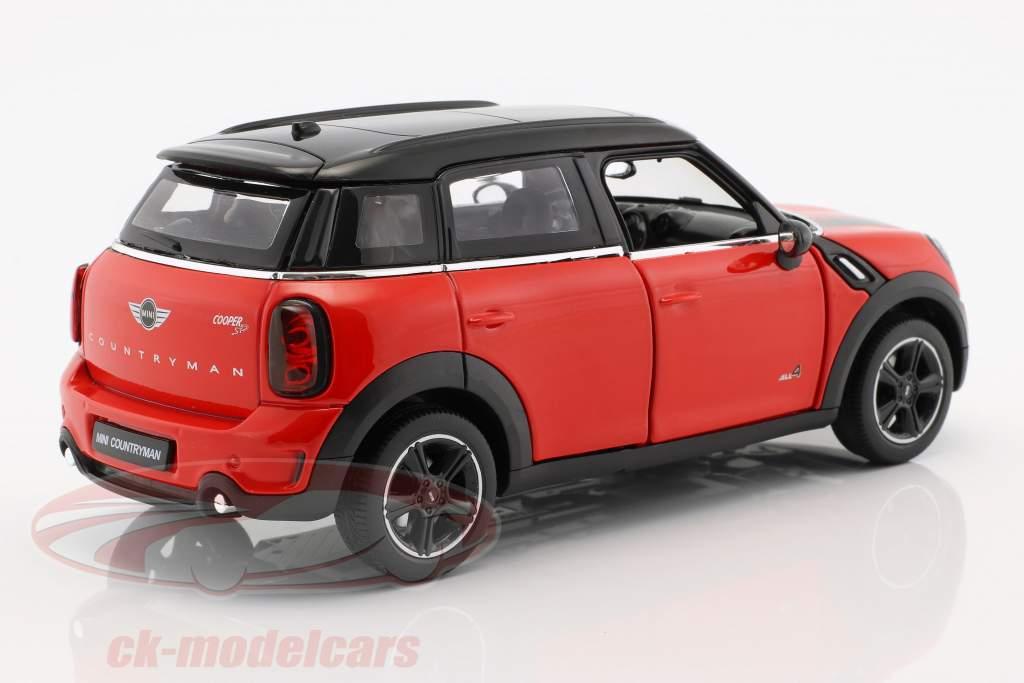 Mini Cooper S Countryman (R60) rouge / noir 1:24 Rastar
