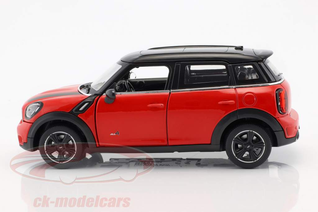 Mini Cooper S Countryman (R60) vermelho / preto 1:24 Rastar