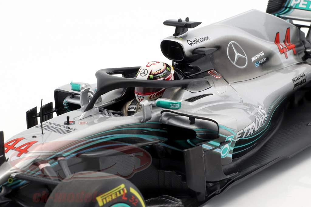 L. Hamilton Mercedes-AMG W09 EQ #44 campeón del mundo fórmula 1 2018 1:18 Minichamps