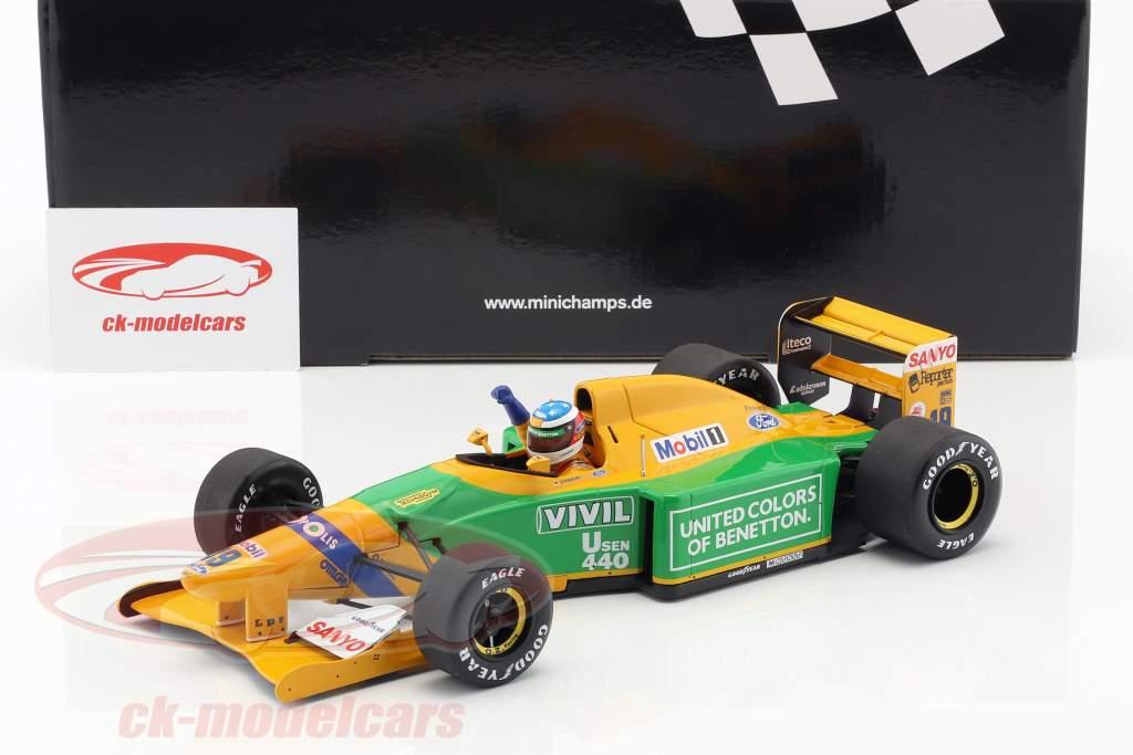 M. Schumacher Benetton B192 #19 1er GP victoire Spa formule 1 1992 1:18 Minichamps