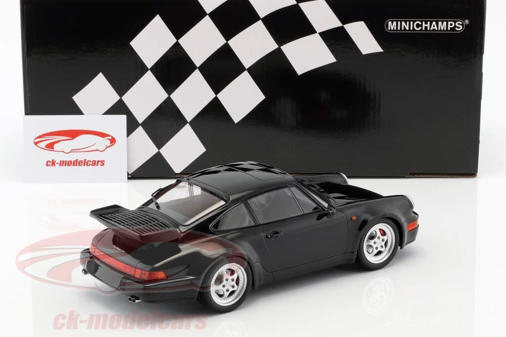 Porsche 911 (964) Turbo year 1990 black 1:18 Minichamps