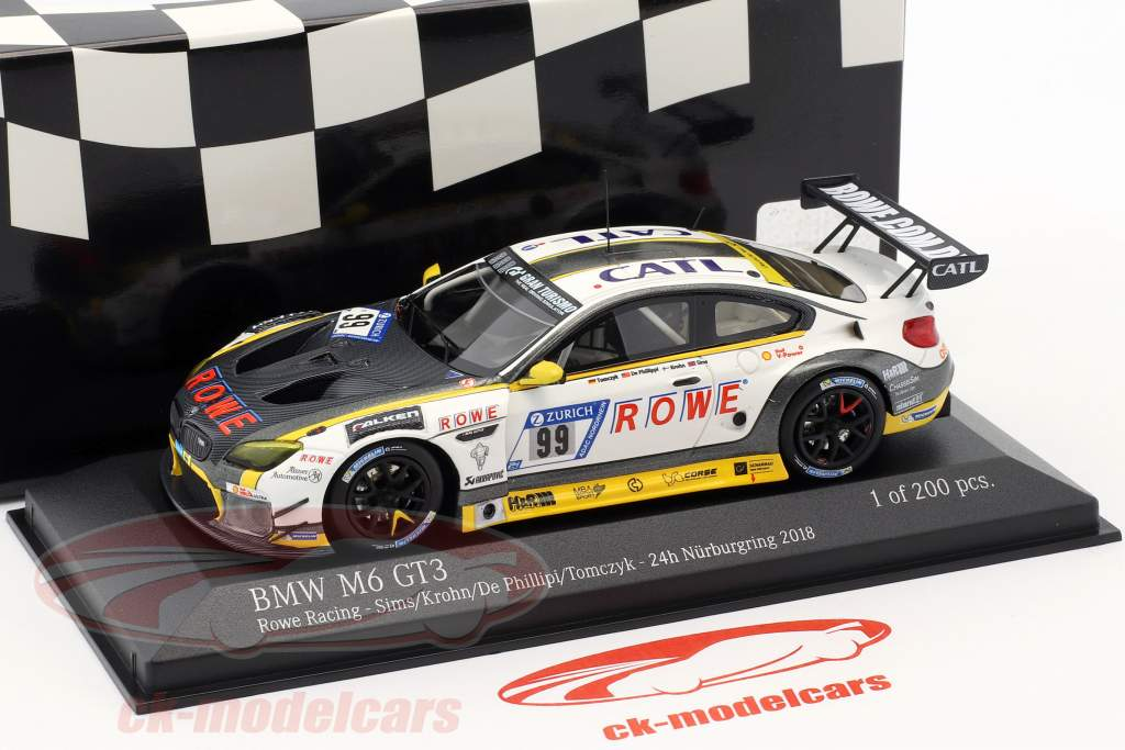 BMW M6 GT3 #99 24h Nürburgring 2018 Rowe Racing 1:43 Minichamps
