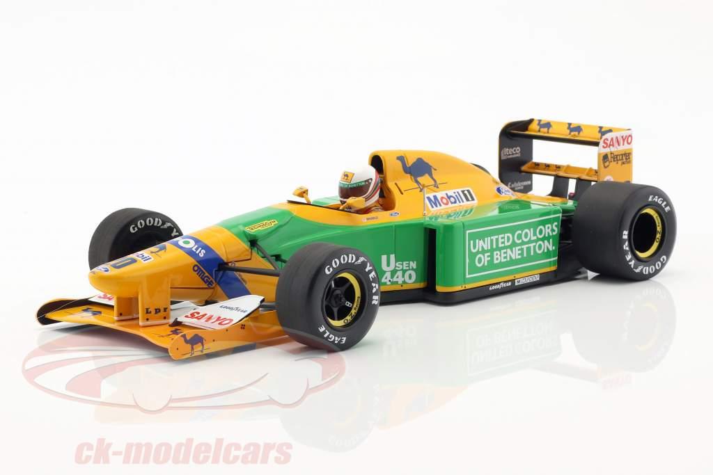 Martin Brundle Benetton B192 #20 tercero británico GP F1 1992 1:18 Minichamps