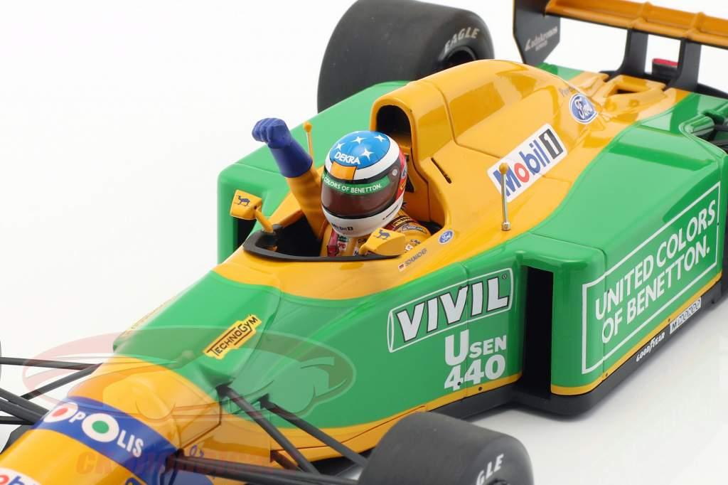 M. Schumacher Benetton B192 #19 primero GP victoria Spa fórmula 1 1992 1:18 Minichamps