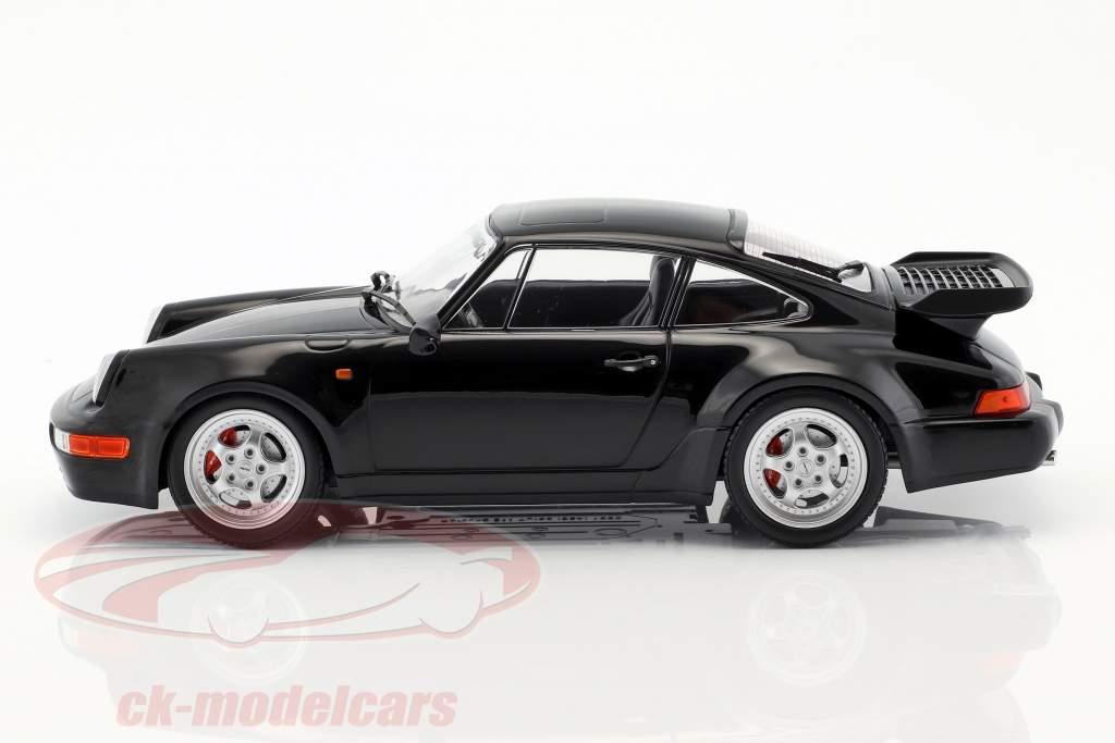 Porsche 911 (964) Turbo Opførselsår 1990 sort 1:18 Minichamps