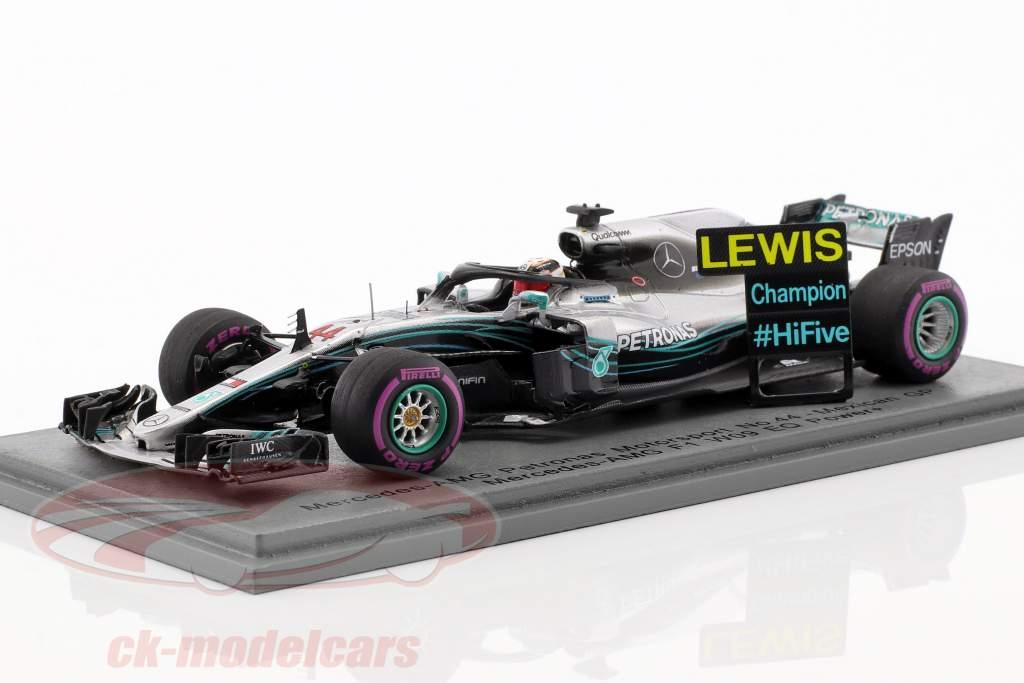 L. Hamilton Mercedes-AMG F1 W09 EQ Power  #44 campeón del mundo Mexiko GP F1 2018 1:43 chispa