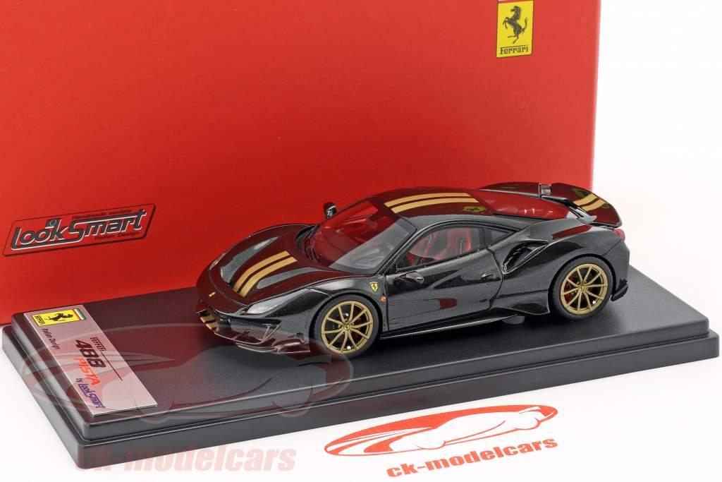 Ferrari 488 Pista Bouwjaar 2018 Daytona zwart 1:43 LookSmart