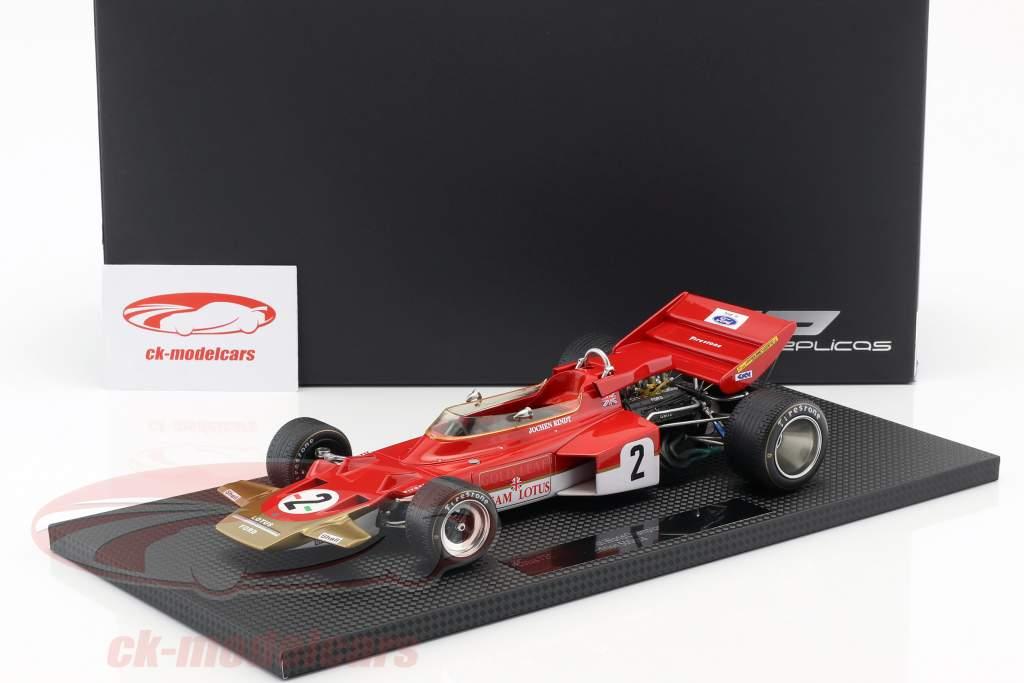 Jochen Rindt Lotus 72C #2 Campeão Mundial de Fórmula 1 1970 1:18 GP Replicas