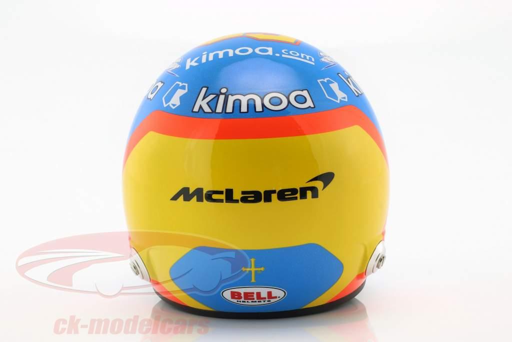 Fernando Alonso McLaren #66 Indy 500 2019 helmet 1:2 Bell