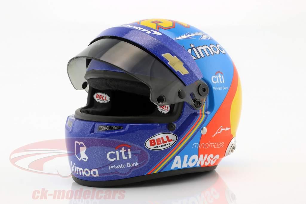 Fernando Alonso McLaren #66 Indy 500 2019 Helm 1:2 Bell