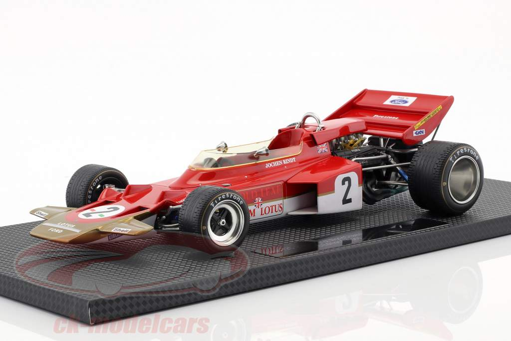 Jochen Rindt Lotus 72C #2 Wereldkampioen Formule 1 1970 1:18 GP Replica's