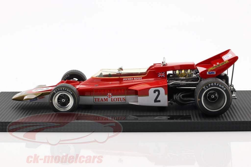 Jochen Rindt Lotus 72C #2 Champion du Monde Formule 1 1970 1:18 Reproductions de GP