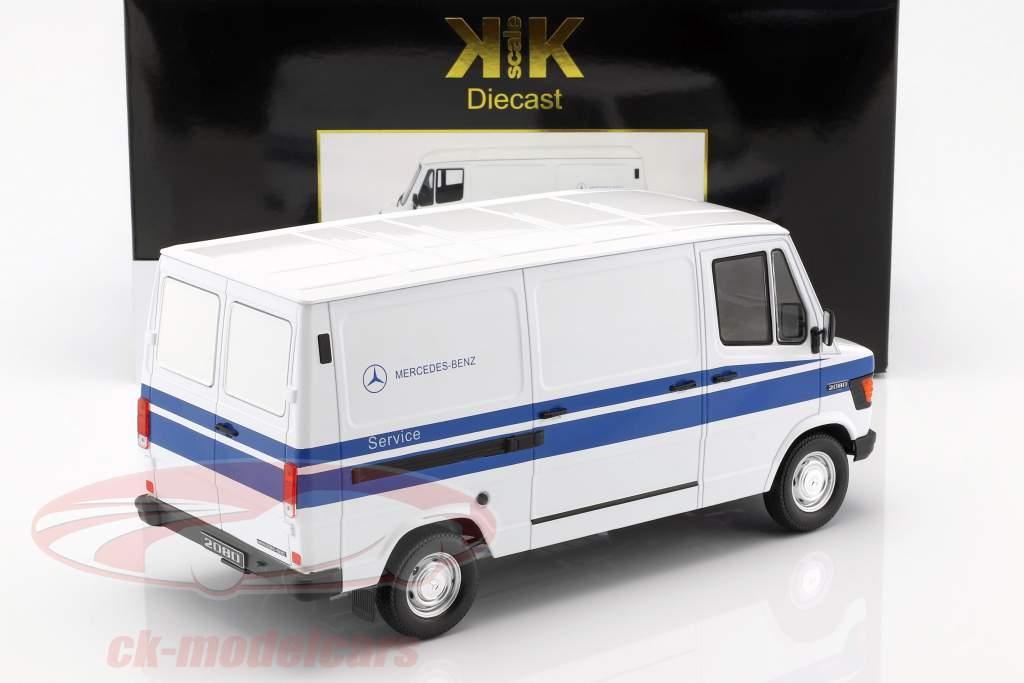 Mercedes-Benz 208 D Kastenwagen Baujahr 1988 Mercedes Service weiß / blau 1:18 KK-Scale