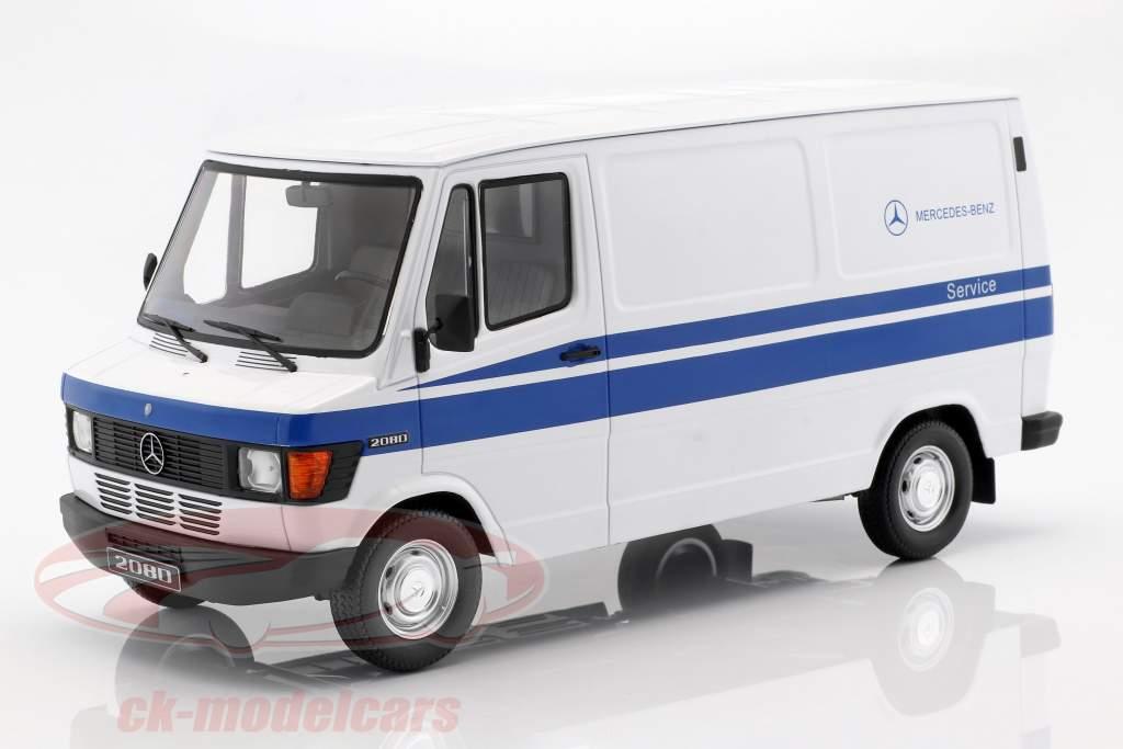 Mercedes-Benz 208 D furgone anno di costruzione 1988 Mercedes Service bianco / blu 1:18 KK-Scale