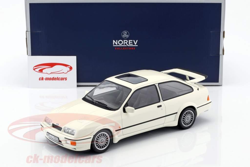 Ford Sierra RS Cosworth año de construcción 1986 blanco 1:18 Norev