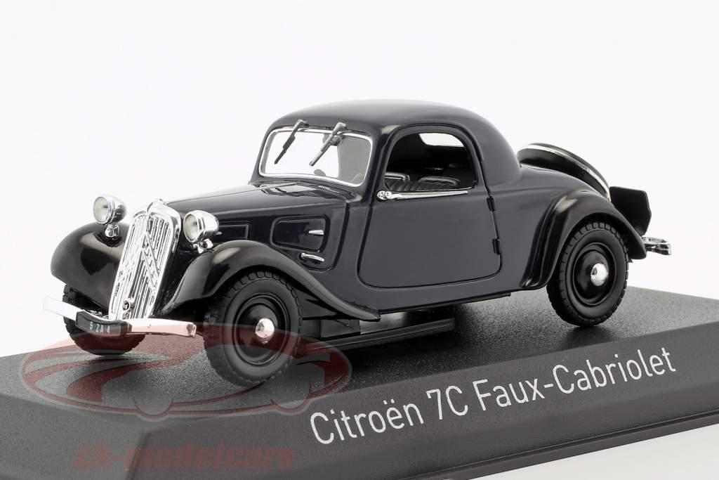 Citroen 7C Faux Cabriolet anno di costruzione 1934 blu scuro 1:43 Norev