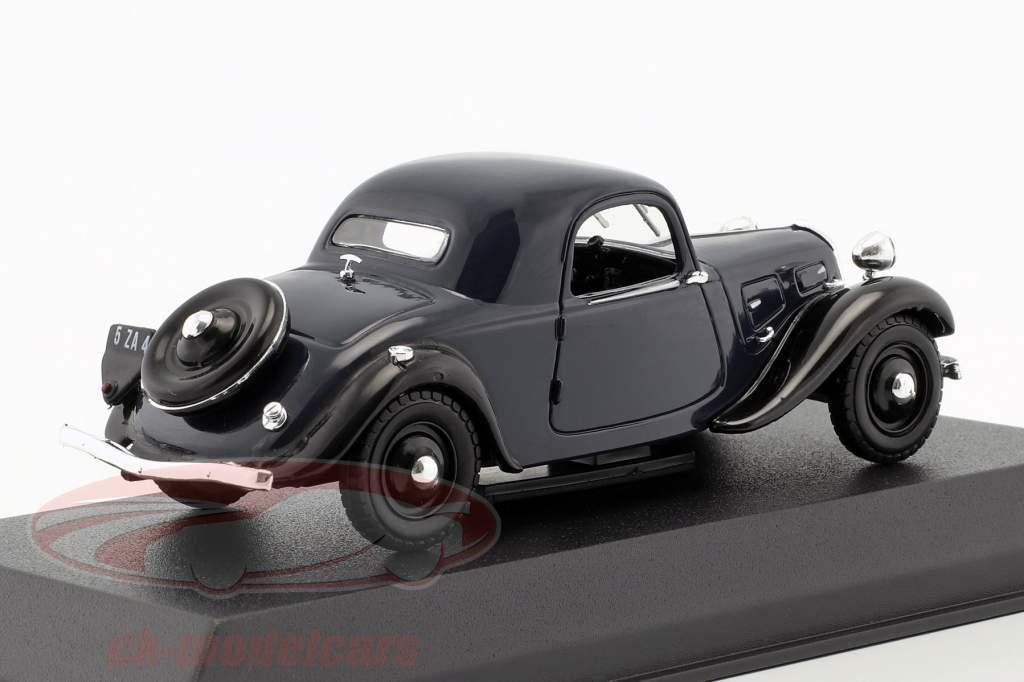 Citroen 7C Faux Cabriolet Opførselsår 1934 mørkeblå 1:43 Norev