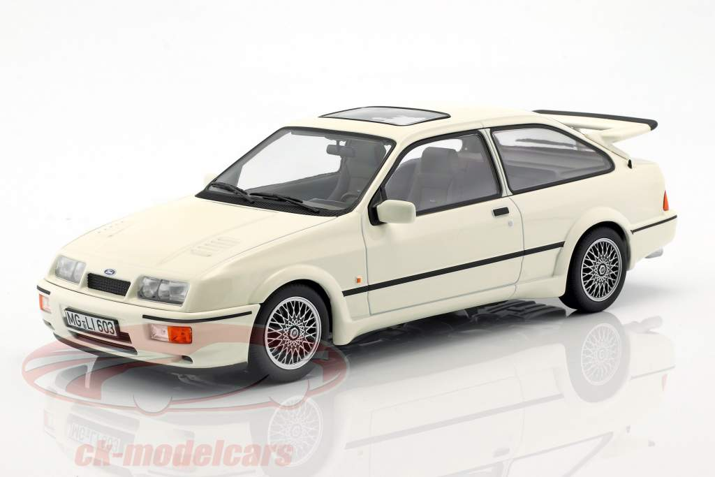 Ford Sierra RS Cosworth année de construction 1986 blanc 1:18 Norev