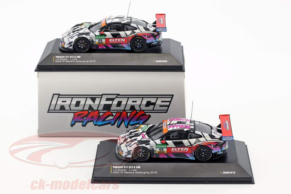 Porsche 911 (991) GT3 R #69 ADAC GT Masters 2018 Iron Force 1:43 CMR