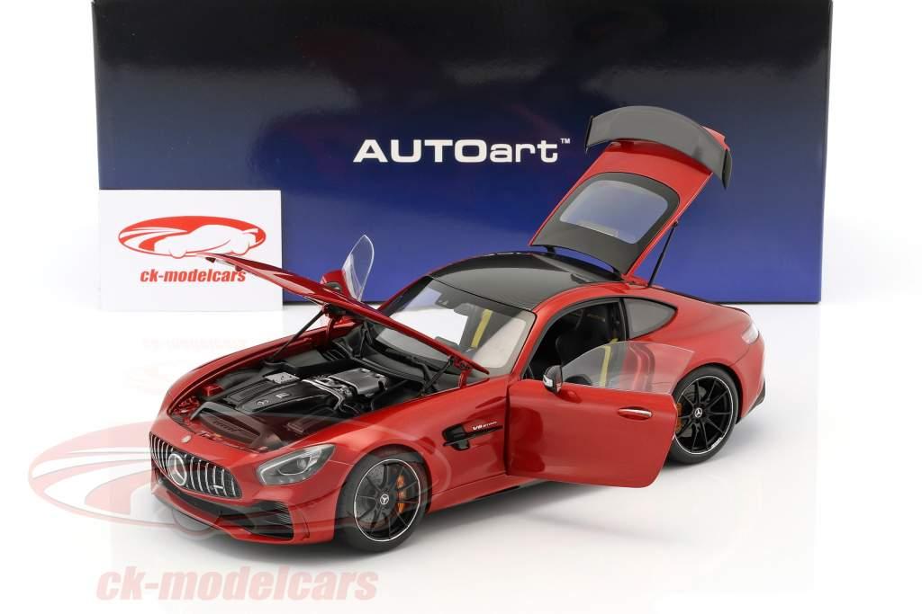 Mercedes-Benz AMG GT R ano de construção 2017 designo cardinal vermelho metálico 1:18 AUTOart