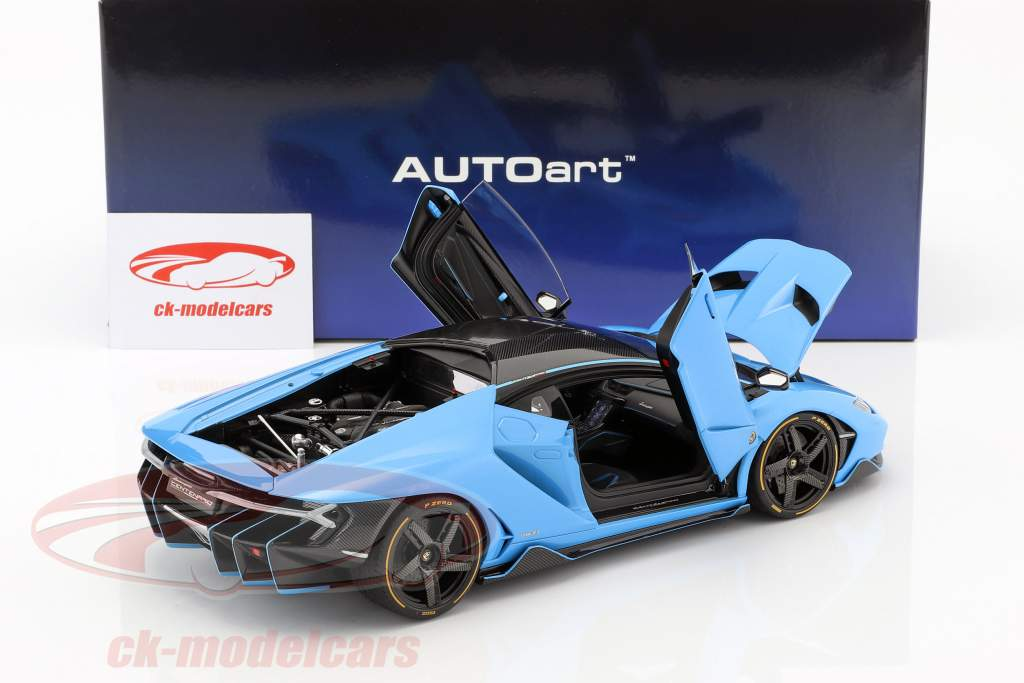 Lamborghini Centenario LP770-4 Bouwjaar 2017 Cepheus blauw metalen 1:18 AUTOart