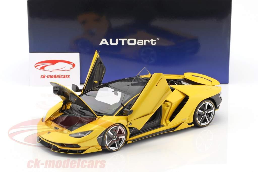 Lamborghini Centenario LP770-4 année de construction 2017 orion jaune métallique 1:18 AUTOart