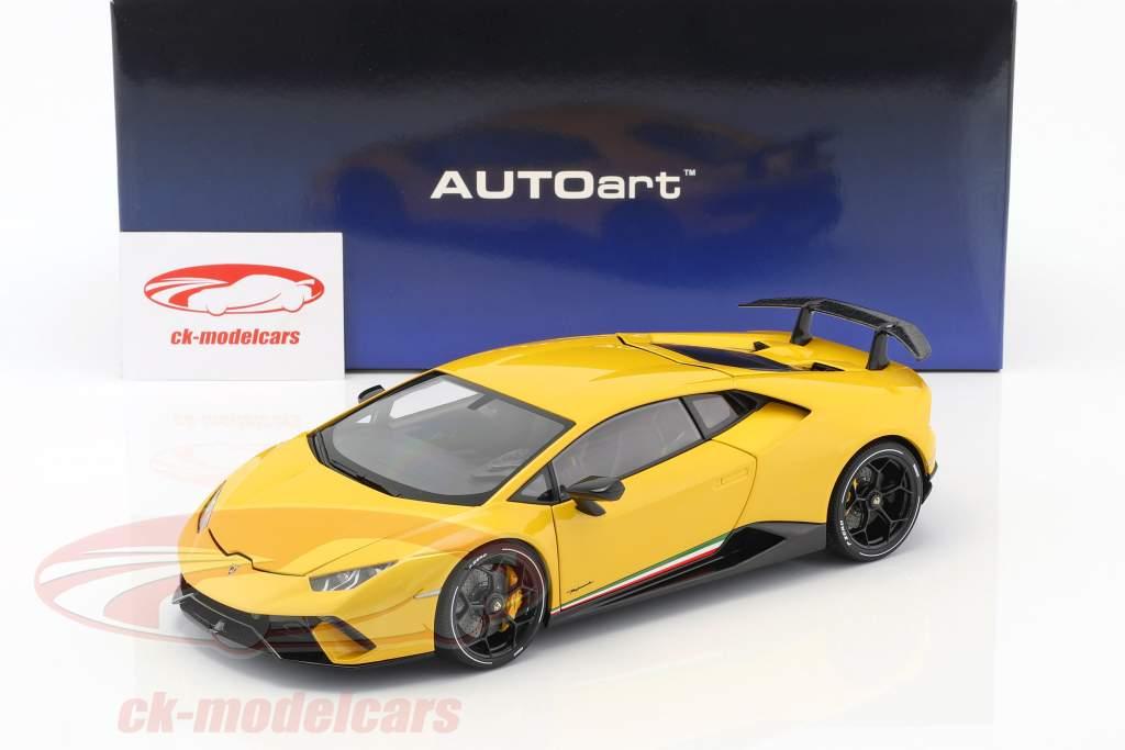 Lamborghini Huracan Performante anno di costruzione 2017 perla giallo 1:18 AUTOart