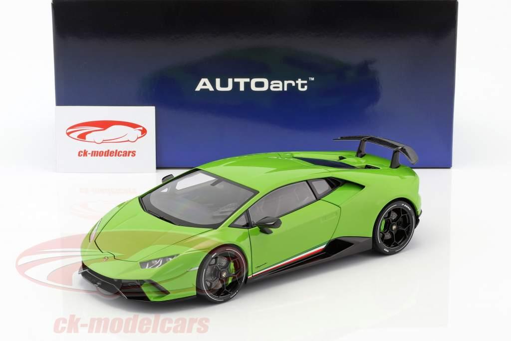 Lamborghini Huracan Performante ano de construção 2017 mantis verde 1:18 AUTOart