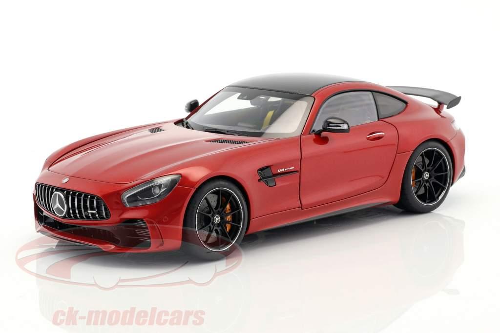 Mercedes-Benz AMG GT R year 2017 designo cardinal red metallic 1:18 AUTOart