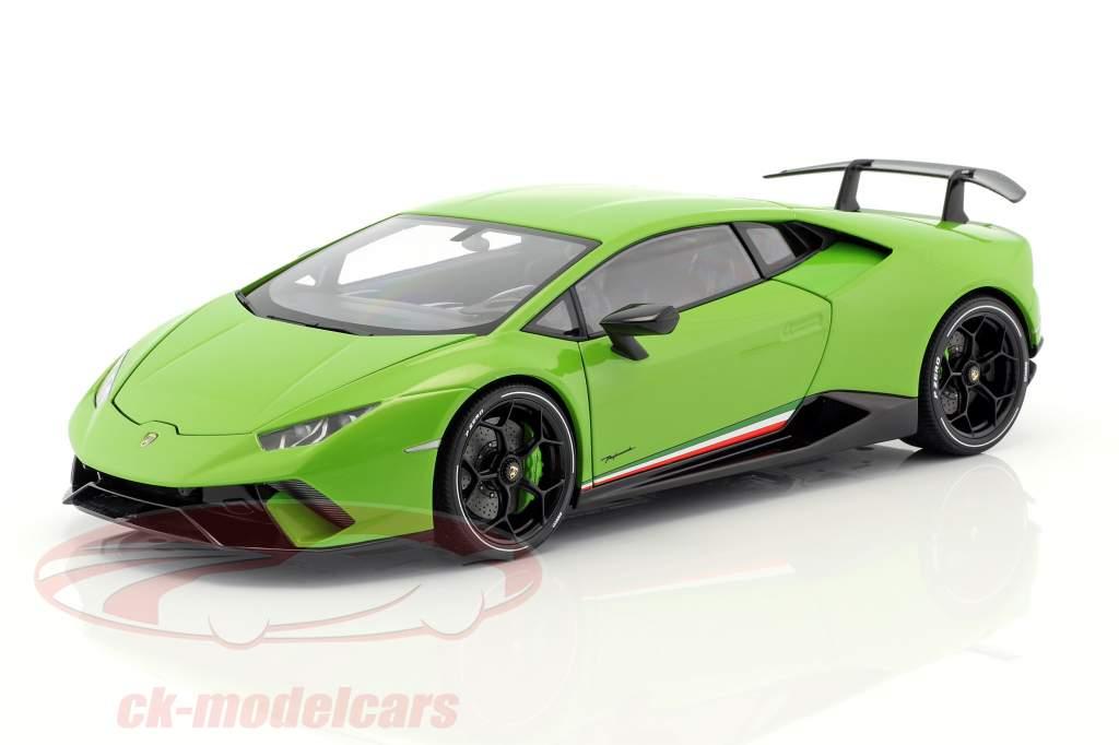 Lamborghini Huracan Performante anno di costruzione 2017 mantis verde 1:18 AUTOart