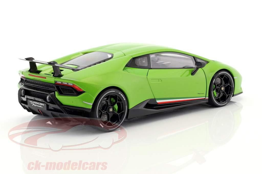 Lamborghini Huracan Performante Opførselsår 2017 mantis grøn 1:18 AUTOart
