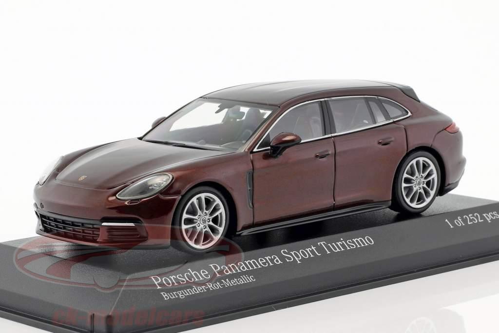 Porsche Panamera 4S Diesel Sport Turismo anno di costruzione 2017 Borgogna rosso metallico 1:43 Minichamps